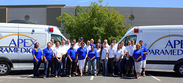 Apex Paramedics team and sprinters image